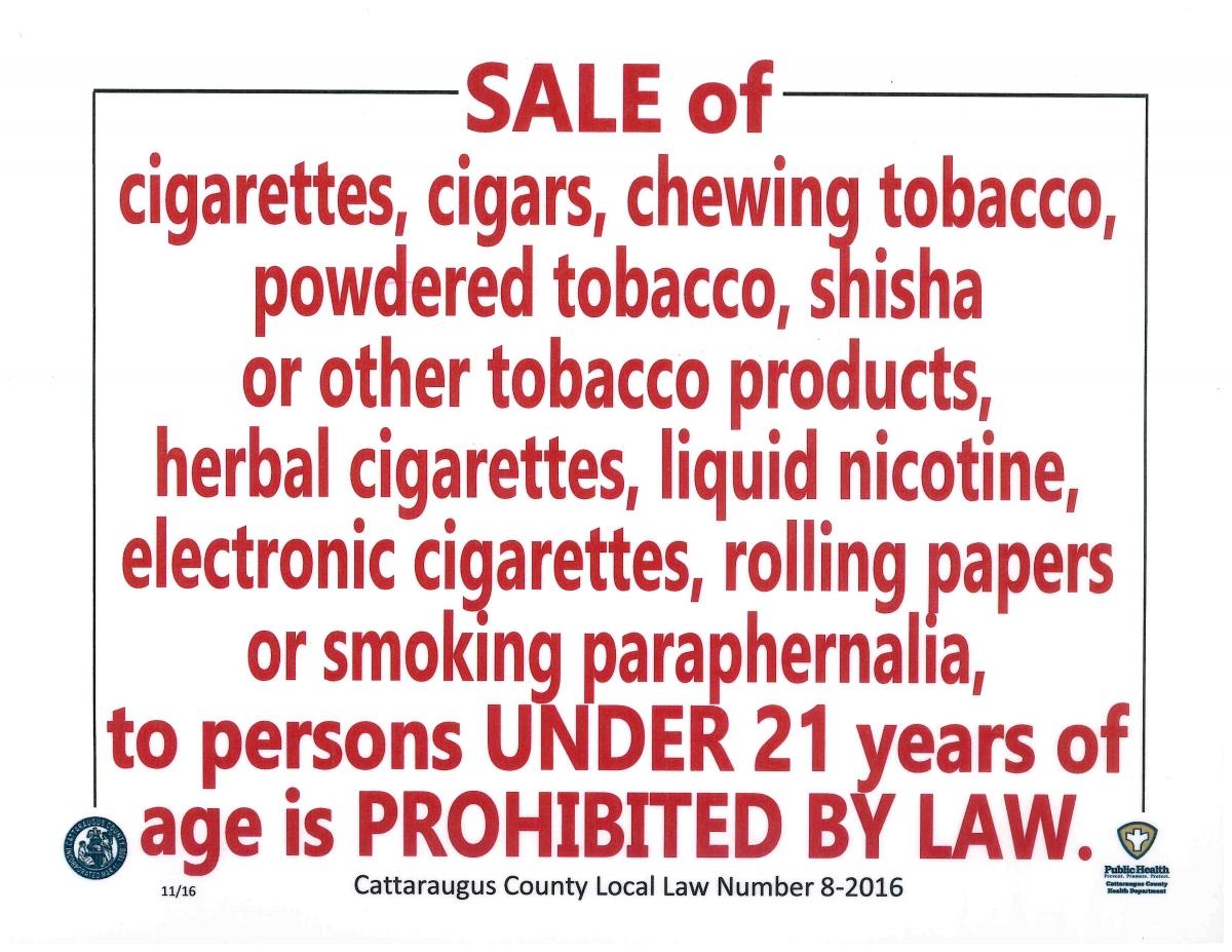 2017 Tobacco Sales Enforcement Program   Cattaraugus ...